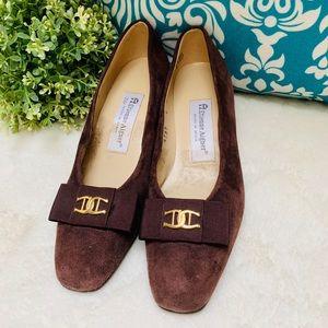 Etienne Aigner Vintage Brown Suede Leather Shoes